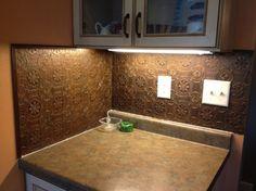 My $30 kitchen backsplash... it's wallpaper!