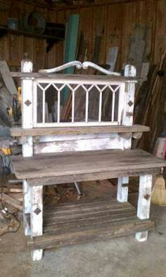 Potting bench via Mavis