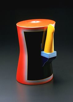 Ceramic by Ron Nagle, 1980s