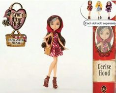 Ever After High Enchanted Picnic Cerise Hood Ever After High, Barbie 80s, Lizzie Hearts, Lps Toys, Fairy Coloring Pages, After High School, Maquillage Halloween, Monster High Dolls, Red Riding Hood