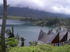 Batak houses, lake Toba, Sumatra