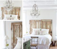 riutilizzare vecchie porte in stile shabby chic testiera del letto