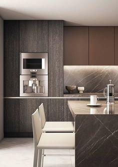 Marmur w kuchni – galeria aranżacji