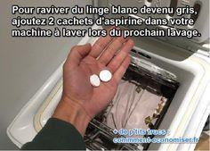 A TESTER : comment blanchir linge devenu gris avec de l'aspirine
