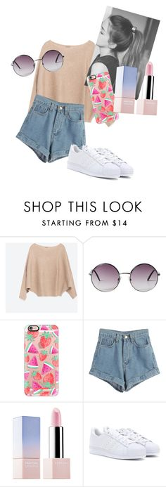 """""""Untitled #11"""" by chloxoxoxx on Polyvore featuring Zara, Monki, Casetify, WithChic, Sephora Collection and adidas"""