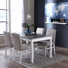 Neutraalit ja maanläheiset värit, kuten harmaa, valkoinen ja puun eri sävyt huonekaluissa helpottavat vaihtelua kaipaavan sisustajan elämää. Niitä on helppo yhdistää muihin väreihin ja siten sisustuksen päivittäminen onnistuu pienemmillä muutoksilla! ✨ Alina ruokatuoli & Mona ruokapöytä | Jälleenmyyjä: Sotka #pohjanmaan #pohjanmaankaluste Table And Chairs, Dining Chairs, Dining Table, Chair Design, Malli, Furniture, Home Decor, Decoration Home, Room Decor