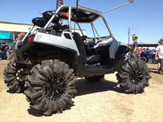 Gloss Black Tracer Venoms with Bullet edge and Matching Caps Can Am Commander, Bone Stock, Polaris Ranger, Turbo S, Yamaha, Bullet, Monster Trucks, Wheels, Vehicles