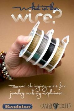 Great tips for using bead stringing wire!