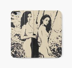 Forest Nymphs, seducing and sexy girls, black and white - Also Available as T-Shirts & Hoodies, Men's Apparels, Women's Apparels, Stickers, iPhone Cases, Samsung Galaxy Cases, Posters, Home Decors, Tote Bags, Pouches, Prints, Cards, Mini Skirts, Scarves, iPad Cases, Laptop Skins, Drawstring Bags, Laptop Sleeves, and Stationeries