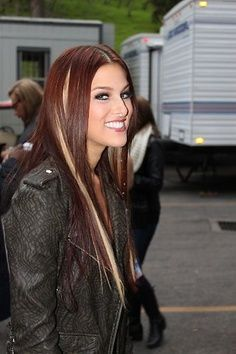 Cassadee Pope hair color | LOVE. getting these colors. bye bye blonde <3