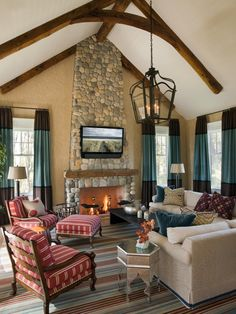 Stone Fireplace Surround Design, Pictures, Remodel, Decor and Ideas - page 2