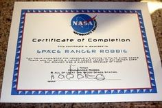 NASA Certificate of completion!
