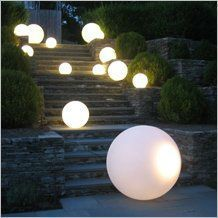 Alibaba china led garden ball light for decoration/swimming pool/event/party/luminous spheres from. Landscape Lighting, Outdoor Lighting, Outdoor Decor, Led Garden Lights, Outside Garden Lights, Solar Lights, Sphere Light, Garden Balls, Sweetarts