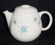 Franciscan Starburst Teapot & Vintage 1950s Franciscan starburst dinner wear dish set (for sale ...