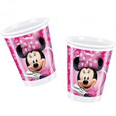 Vasos de fiesta de la colección rosa de Minnie Mouse Podeis ver más artículos en nuestra tienda http://www.articulos-fiestas-infantiles.es/142-fiesta-cumpleanos-minnie-mouse