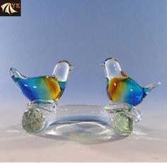 blow glass animals | Product Name: Blowing Murano Glass Animal Birds With Branches Package ...