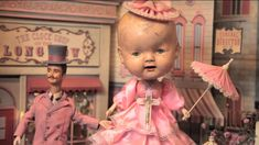 """""""Memory Lane"""" is an automaton diorama by Mark Ryden. Part of the exhibition """"The Gay Nineties West"""" at Kohn Gallery, Los Angeles CA. May 3, 2014 to June 28, 2014"""