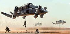 Military drone transport, mathieu lamble on ArtStation at http://www.artstation.com/artwork/military-drone-transport