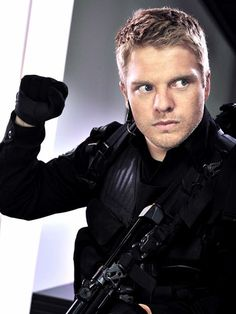 David Paetkau (Sam Braddock) from Flashpoint.He also played Chuck Wheeler in Snow Day.