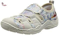 Rieker L0561 Women Low-top, Sneakers Basses femme - Blanc (ice/blau-multi/beige / 80), 37 EU - Chaussures rieker (*Partner-Link)