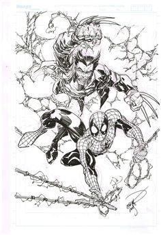 Wolverine & Spider-Man by Erik Larsen