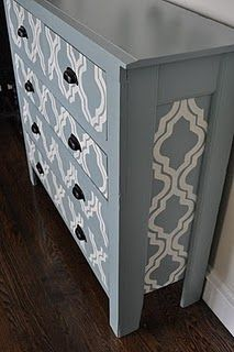 An old some what ugly dresser turned into a fun looking side table
