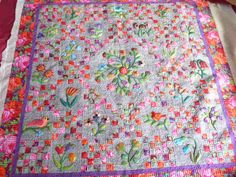 unique borders for quilts | Wonderful Wool Applique Quilt