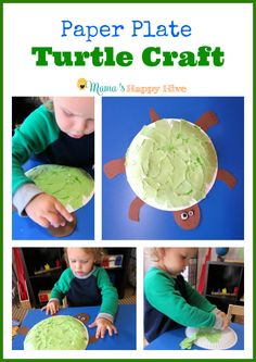 Paper Plate Turtle Craft that works on fine motor and coordination skills. - www.mamashappyhive.com