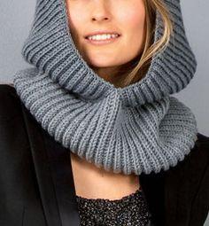 snood capuche tricot