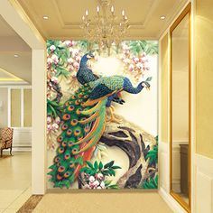 BEAUTIFUL HD WALLPAPER - Google Search Peacock Wallpaper, 3d Wallpaper For Walls, Hd Wallpaper, Color Pencil Picture, White Room Decor, Bedroom False Ceiling Design, Peacock Decor, Mural Wall Art, Ideas