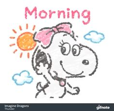 Snoopy Good Morning GIF - Snoopy GoodMorning - Entdecken und teilen Sie GIFs When the Good Morning Gift, Good Morning Quotes For Him, Good Morning Funny, Good Morning Sunshine, Good Morning Picture, Good Morning Messages, Morning Pictures, Good Morning Images, Good Morning Video
