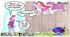 Frases, chistes, anécdotas, reflexiones y mucho más.: Chiste Frijol y Tortilla, Mordedura de serpiente, Nuestro Diario Guatemala.