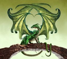 """green_dragon by Paul Youll --love this artwork! And this dragon! In my opinion, if you like dragons and like reading read the Age of Fire"""" books, which this picture is the cover art for! Fantasy Dragon, Dragon Art, Dragon Garden, Dragon Crafts, Magical Creatures, Fantasy Creatures, Mythological Creatures, Fantasy World, Fantasy Art"""