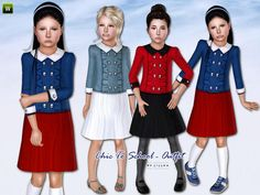 Chic to School by Lillka  http://www.thesimsresource.com/downloads/1189667