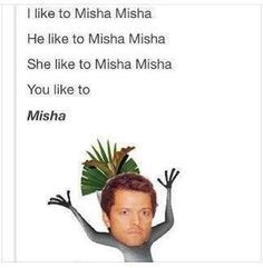 calm down! Dont freak (which I doubt you will) because it's.... MISHA!