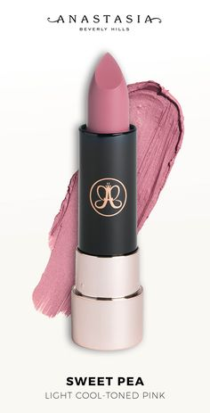 A full-pigment lip color with a smooth, ultra-matte finish. Use the highest point of the bullet to apply Anastasia Beverly Hills Matte Lipstick with precision. Gorgeous Makeup, Love Makeup, Makeup Tips, Beauty Makeup, Hair Makeup, Makeup Haul, Contour Makeup, Makeup Set, Nude Lipstick