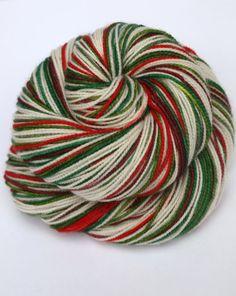 Hand Dyed Fingering/Sock Yarn Self Striping 80/20 by Quaere, $26.00