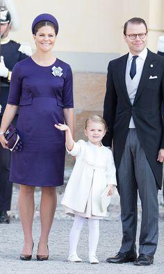 Sweden's royal family reunites for Prince Nicolas' christening   Crown Princess Victoria & Prince Daniel & Princess Estelle