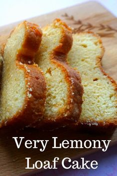 A recipe for a very Lemony Lemon cake!