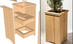Outdoor Cedar Planter