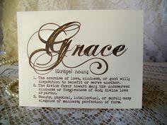 Note Cards Grace Note Cards Set of 10 Grace by PrayerNotes on Etsy, $8.00