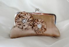 THE CHAMPAGNE Bridesmaid clutch  with by franklymydearvintage