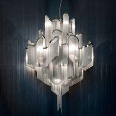 Hanging Chain Pendant Chandelier by Modern Designer Lighting #lighting #light #illumination