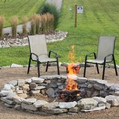 The Completed Stone Fire Pit Project – How We Built It for $117
