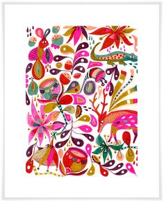Floral Animals, Animals Art Prints | Oopsy Daisy