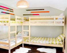Quad Bunk Bed Design, Pictures, Remodel, Decor and Ideas - page 5 - How To Arrange 3 Beds In One Small Room | Childrens Bedroom Ideas For Small Bedrooms | Shared Bedroom Ideas For Teenage Brothers. #кроваткидомики #for the house