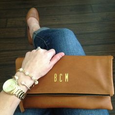 Monogram Clutch from @MimicDesign (Instagram @bma_21)
