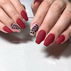 Make an original manicure for Valentine's Day - My Nails Nail Art Designs, Simple Nail Designs, Red Nail Art, Red Art, Hair And Nails, My Nails, Wine Nails, Perfect Nails, Trendy Nails