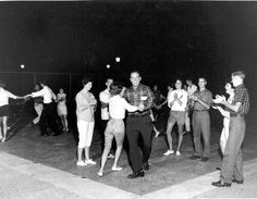 My parents had patio parties with their friends...the music was Patsy Cline, Ferlin Husky, Chubby Checker...all the ladies wore their pristine white tennis shoes and pedal pusher pants!