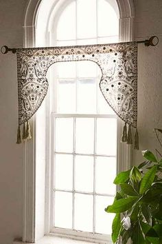 Magical Thinking Embroidered Window Valance from Urban Outfitters. Shop more products from Urban Outfitters on Wanelo. Vintage Window Treatments, Hanging Curtain Rods, Boho Kitchen, Window Coverings, Home Accents, Decoration, Room Inspiration, Magical Thinking, Room Decor